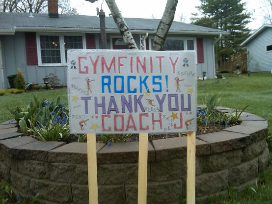 Gymfinity yard sign gymnastics