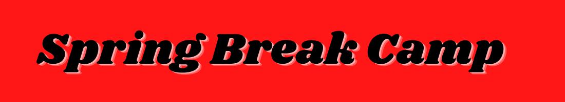 Spring Break Camp Website